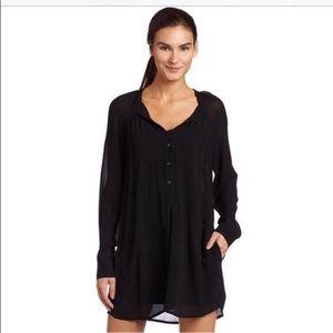 BCBGMaxAzria Jones Dress Tunic Pockets Black M